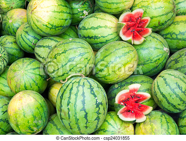 Fresh watermelons - csp24031855