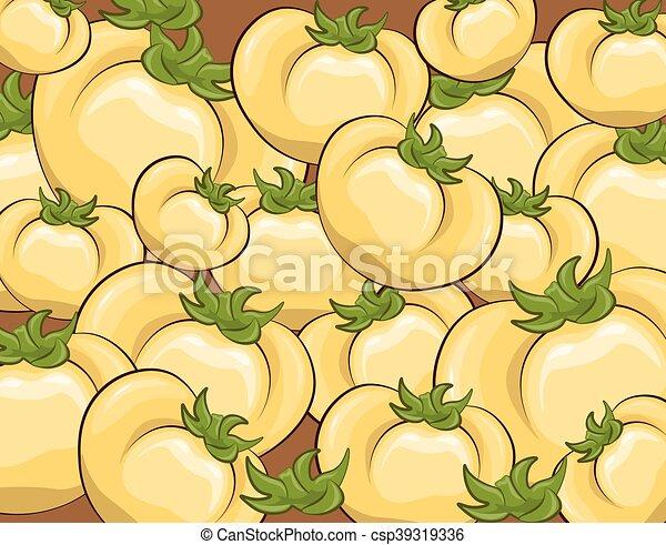 Fresh Yellow tomatoes pattern - csp39319336
