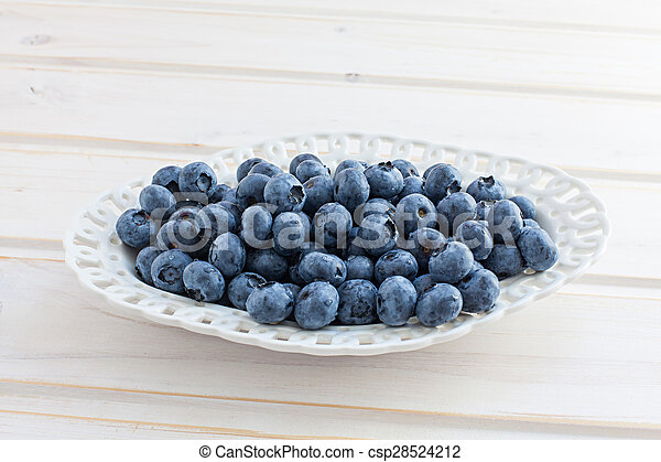 Freshly picked blueberries - csp28524212