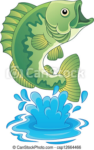 freshwater fish theme image 6 vector illustration rh canstockphoto com Pool Clip Art Frog Clip Art
