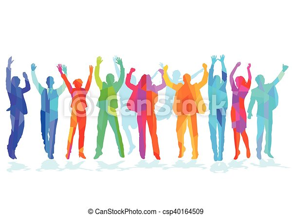 Freude in der Gruppe.eps - csp40164509