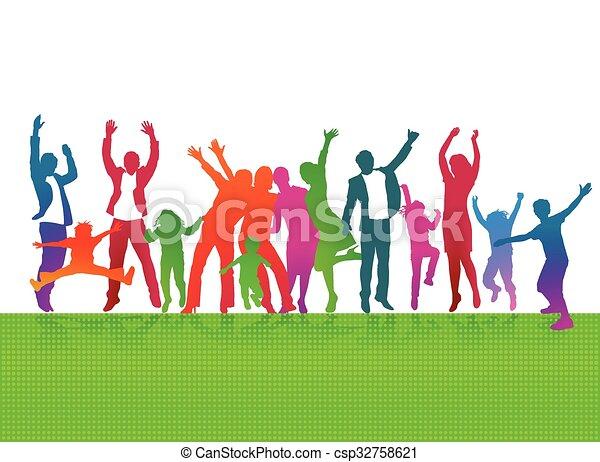 Freude mit Eltern und Kinder.eps - csp32758621
