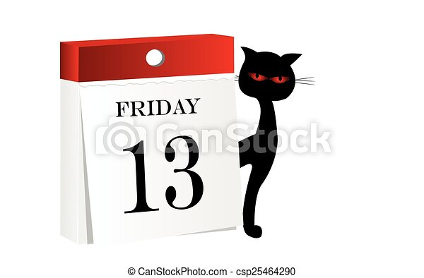 friday 13th calendar white background with isolated calendar with rh canstockphoto com friday the 13th clips happy friday the 13th clip art