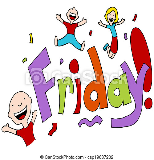 friday celebration an image of a friday celebration rh canstockphoto com