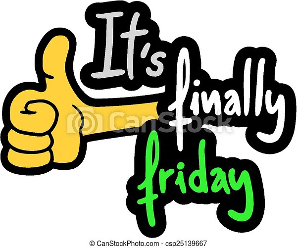 creative design of friday happy clip art vector search drawings rh canstockphoto co uk happy friday free clipart images