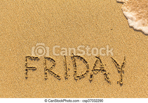 Friday - inscription by hand - csp37032290