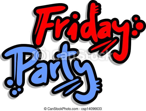 creative design of friday party vectors search clip art rh canstockphoto com friday clip art free friday clip arts for work