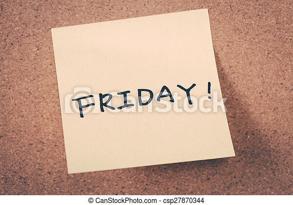 Friday - csp27870344