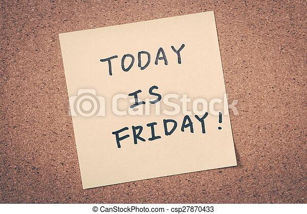 Friday - csp27870433