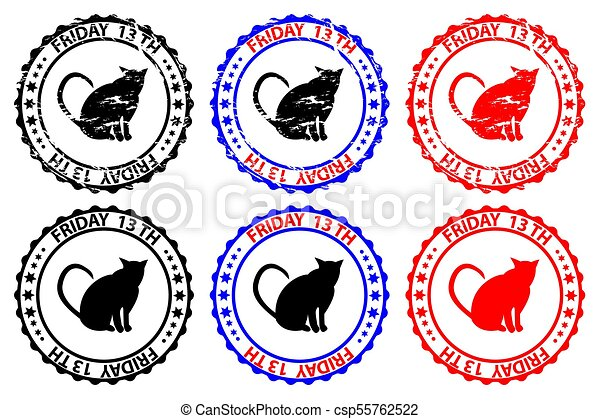 friday the 13th cat grunge rubber stamp black and red rh canstockphoto ie  jason friday the 13th clipart