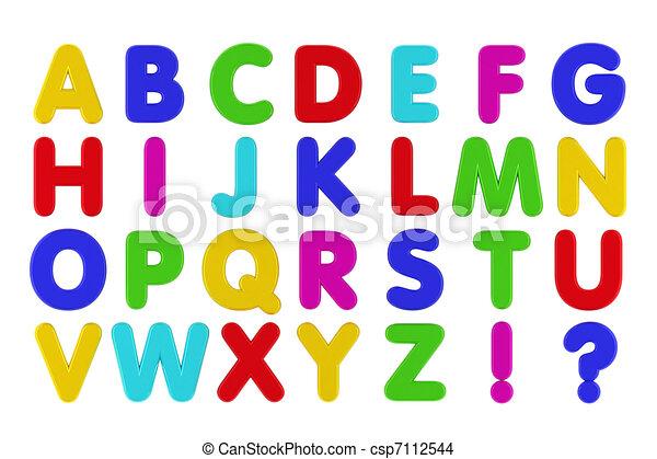 fridge magnet alphabet csp7112544
