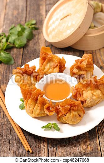 fried asian food - csp48247668