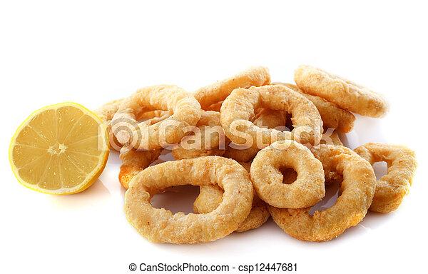 fried calamari - csp12447681