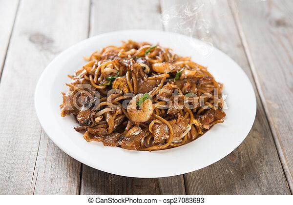Fried Char Kuey Teow - csp27083693