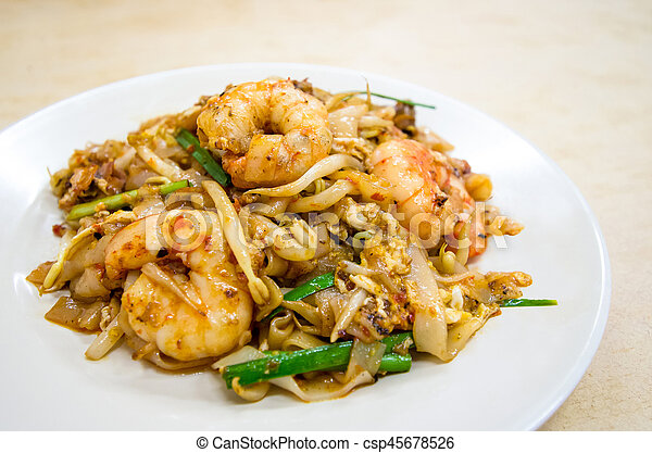 Fried Char Kway Teow - csp45678526