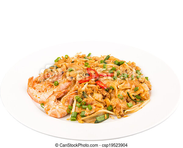 Fried Char Kway Teow - csp19523904