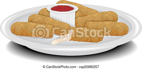 fried cheese sticks illustration of a plate of fried clipart rh canstockphoto com Sausage Patty Clip Art Sausage Patty Clip Art