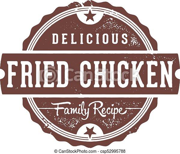 Fried Chicken Restaurant Sign - csp52995788