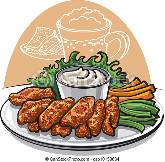 fried chicken wings - csp10153634