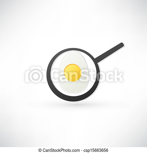 Fried Egg Icon - csp15663656