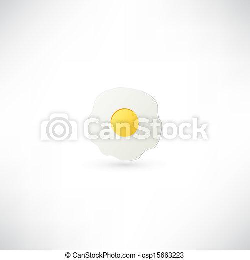 Fried Egg Icon - csp15663223