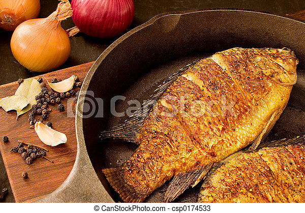 Fried fish - csp0174533