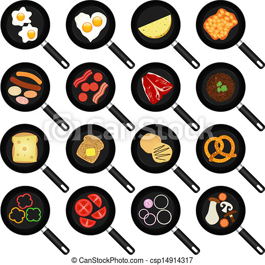 Fried Food In Non-stick Frying Pans - csp14914317