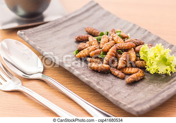 Fried insects - csp41680534