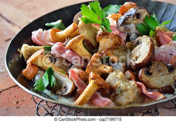 Fried mushrooms - csp7199715