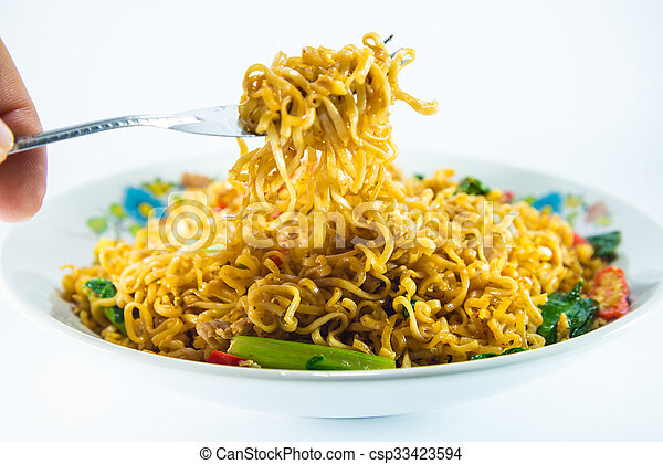 fried noodles - csp33423594
