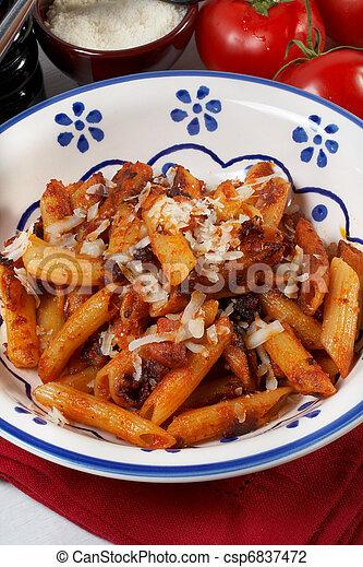 fried pasta - csp6837472