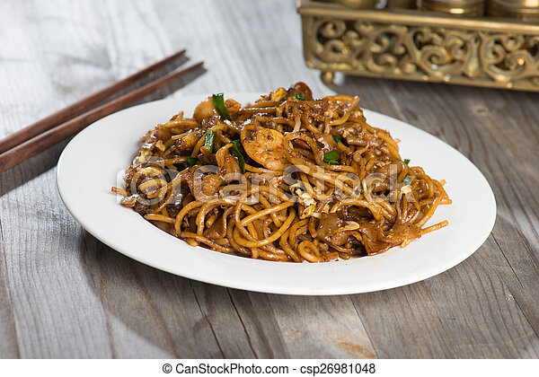 Fried Penang Char Kuey Teow which is a popular noodle dish in Ma - csp26981048