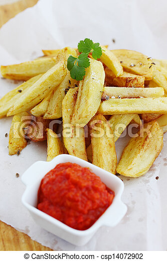 Fried potatoes - csp14072902