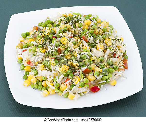 Fried rice with vegetables - csp13879632