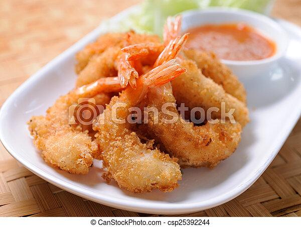 Fried Shrimp - csp25392244
