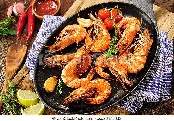 Fried shrimps - csp28475882