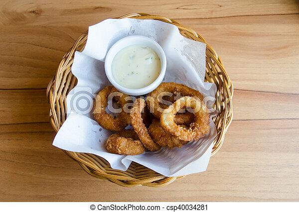 Fried squid - csp40034281