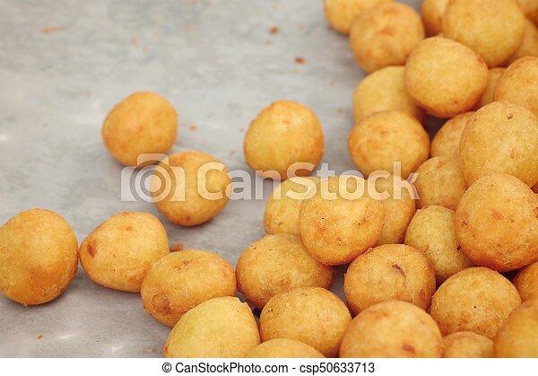 fried sweet potato at street food - csp50633713