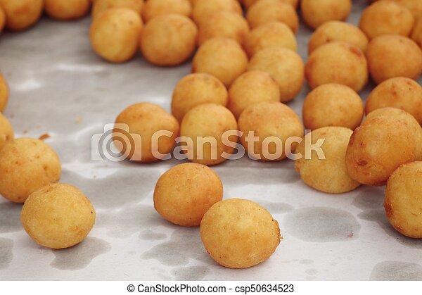 fried sweet potato at street food - csp50634523