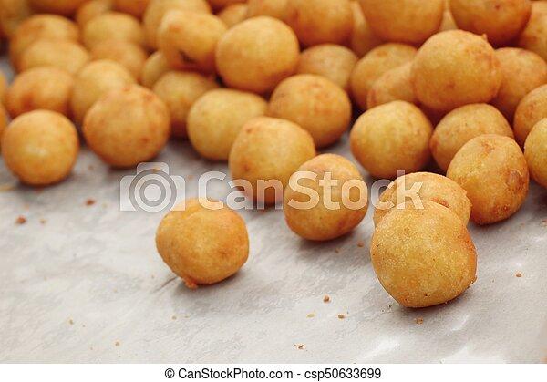 fried sweet potato at street food - csp50633699