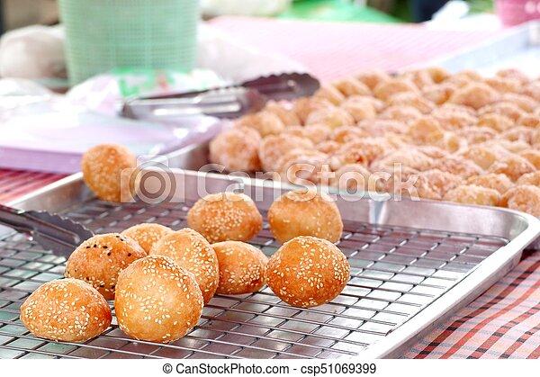 fried sweet potato at street food - csp51069399