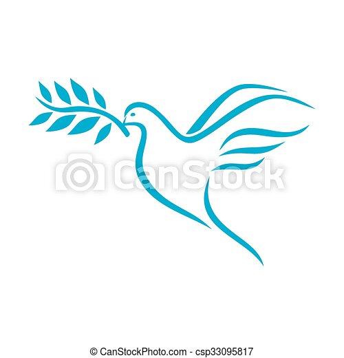 Taube des Friedens - csp33095817