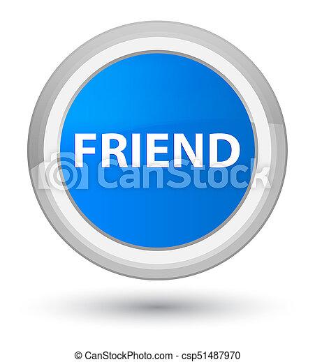 Friend prime cyan blue round button - csp51487970