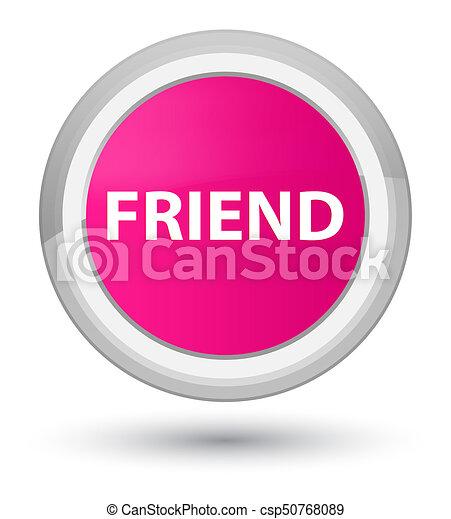 Friend prime pink round button - csp50768089