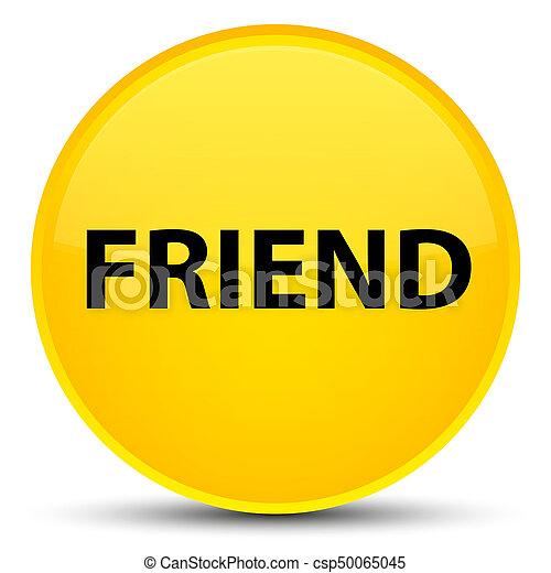 Friend special yellow round button - csp50065045