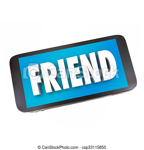 friend word friendship cell phone networking connecting text rh canstockphoto com cell phone text message clipart cell phone text clipart