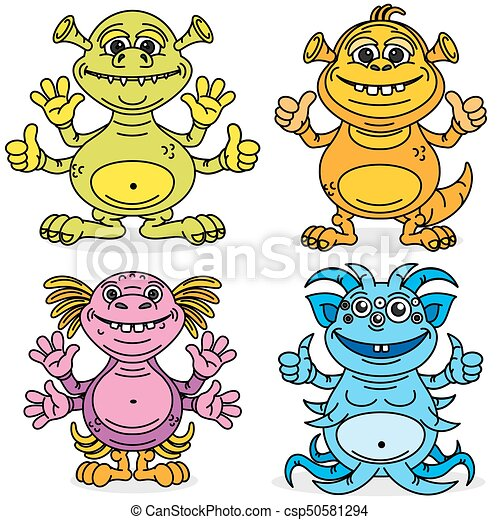 friendly cute cartoon monsters vector characters set eps vectors rh canstockphoto com friendly clipart pic friendly reminder clipart free