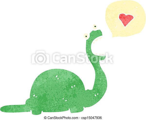 friendly dinosaur cartoon character - csp15047936