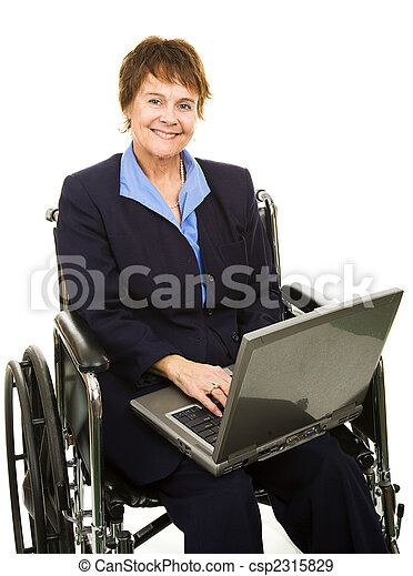 Friendly Disabled Businesswoman - csp2315829