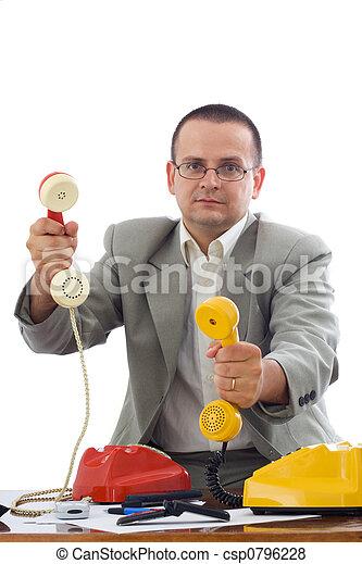 Friendly phone marketer - csp0796228